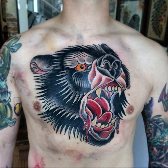 50 Traditional Bear Tattoo Designs For Men – Old School Ideas
