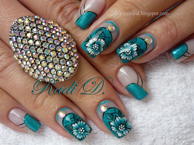 Turquoise Beauty by RadiD - Nail Art Gallery nailartgallery.nailsmag.com by  Nails Magazine - Turquoise Beauty By RadiD - Nail Art Gallery Nailartgallery