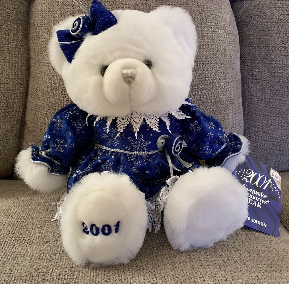 2001 Walmart Keepsake Memories Plush Teddy Bear Limited