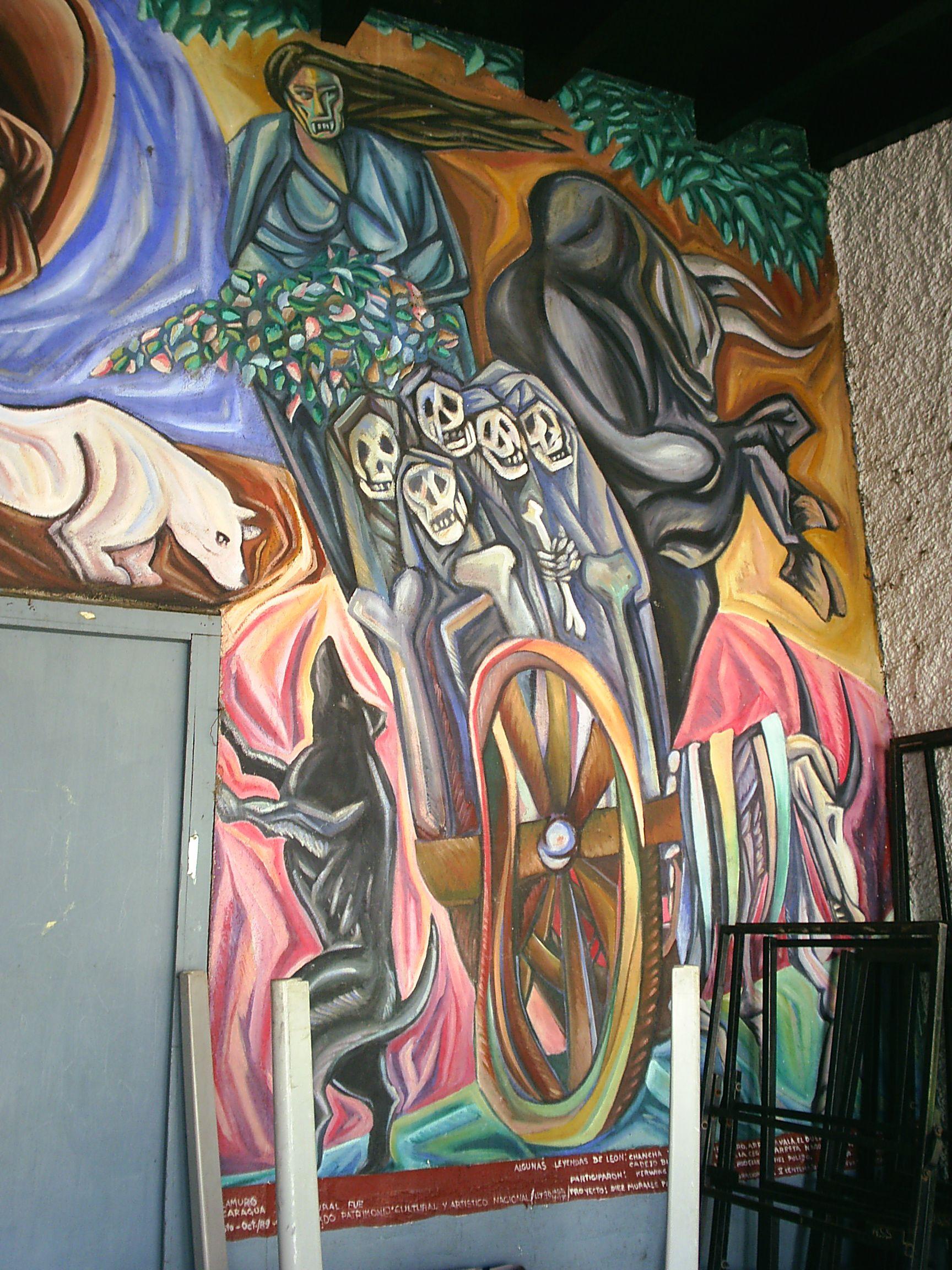 Murales De La Casa De La Cultura Leon Nicaragua