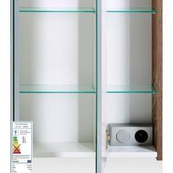 Photo of Bathroom furniture set Lima-04 wotan oak, 60cm mirror cabinet, WxHxD: approx. 187.3x200x32cm Lomado