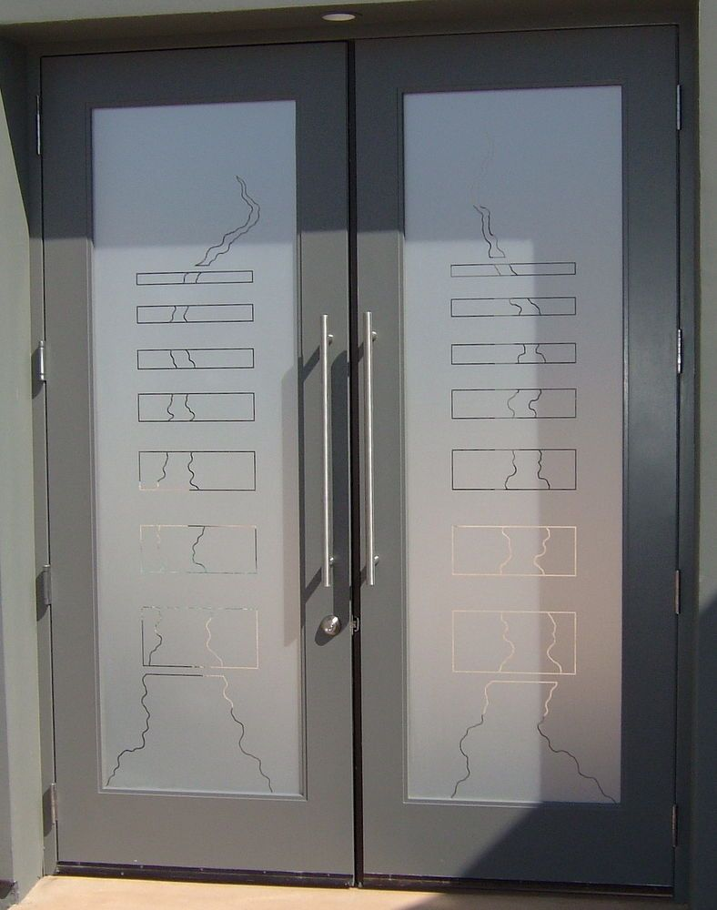 Frosted glass front door - Etched Exterior Door Pattern