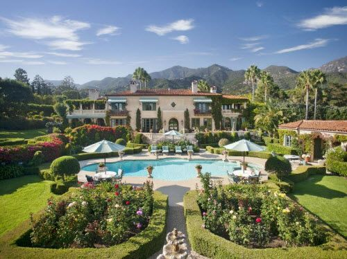 16 9 Million Mediterranean Mansion In Santa Barbara California Jpg 500 374 Mediterranean Mansion Mansions Santa Barbara Real Estate