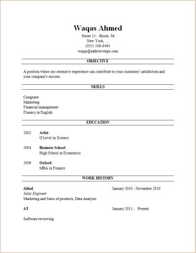 Free Job Resume Maker   Http://www.resumecareer.info/free