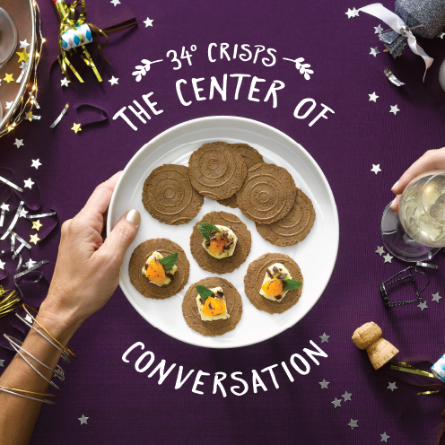 Make the night sparkle #34Degrees Chocolate  Vanilla Crisps at the center of your #NYE gathering!