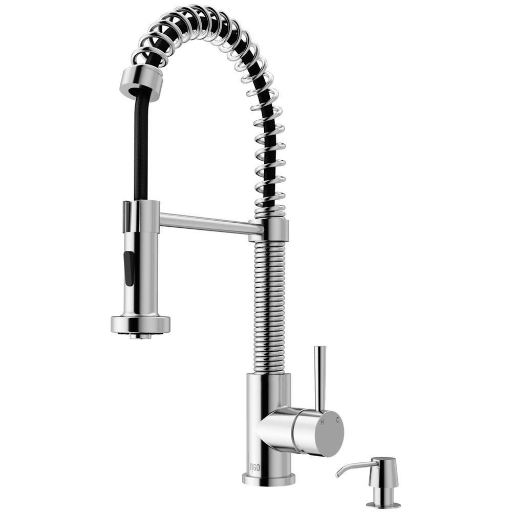 Vigo Edison Single Handle Pull Down Sprayer Kitchen Faucet With