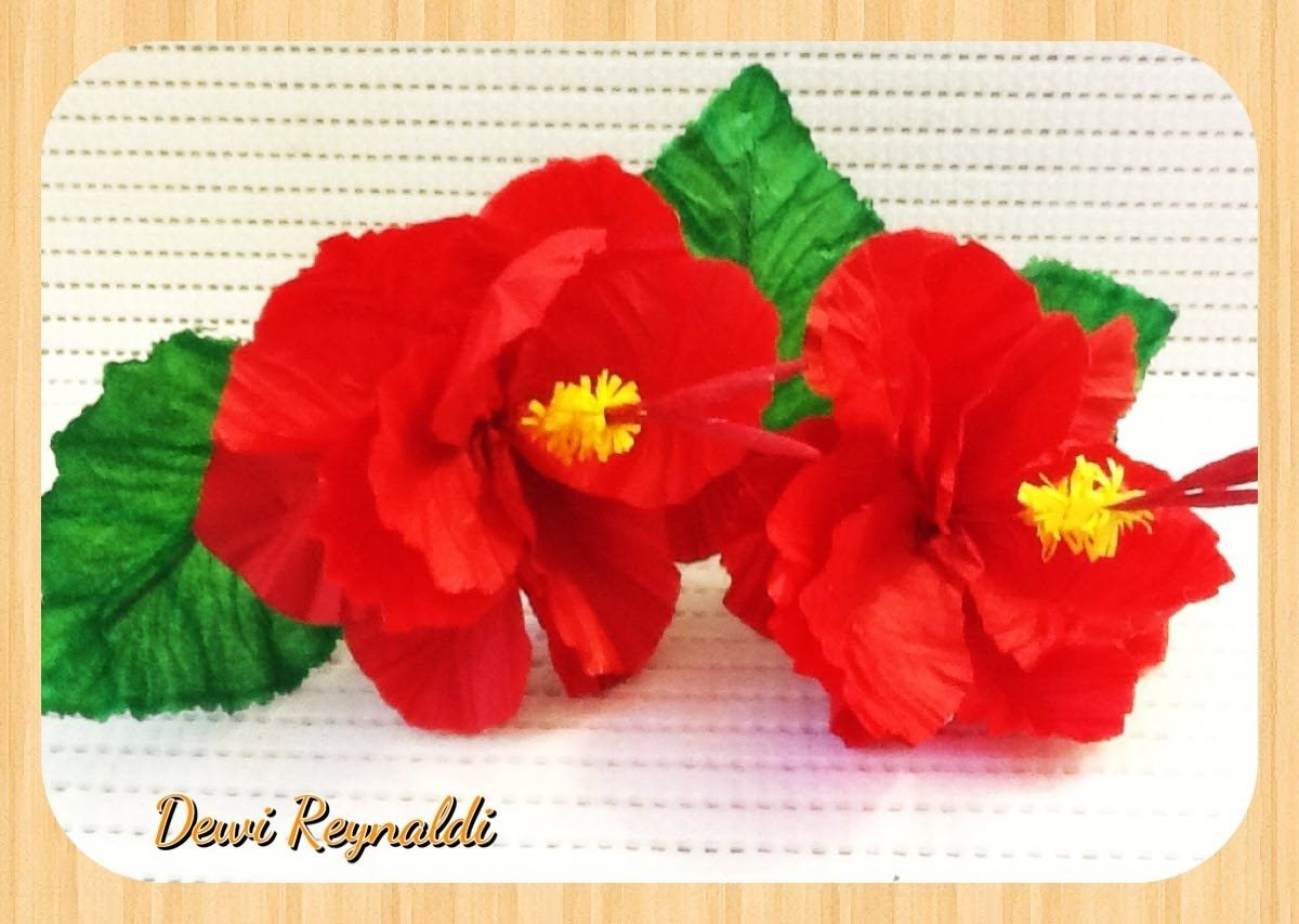Diy  How To Make Hibiscus Paper Flower For Room & Gift Box Decoration,