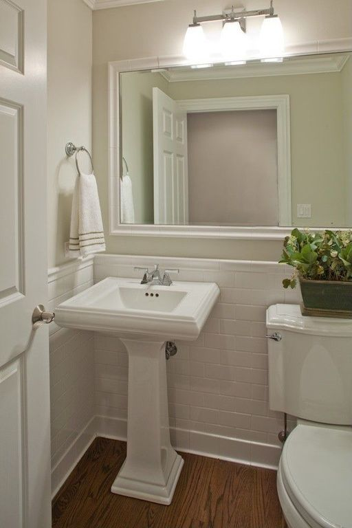 Traditional Powder Room With Kichler Lighting Uptown 3 Light