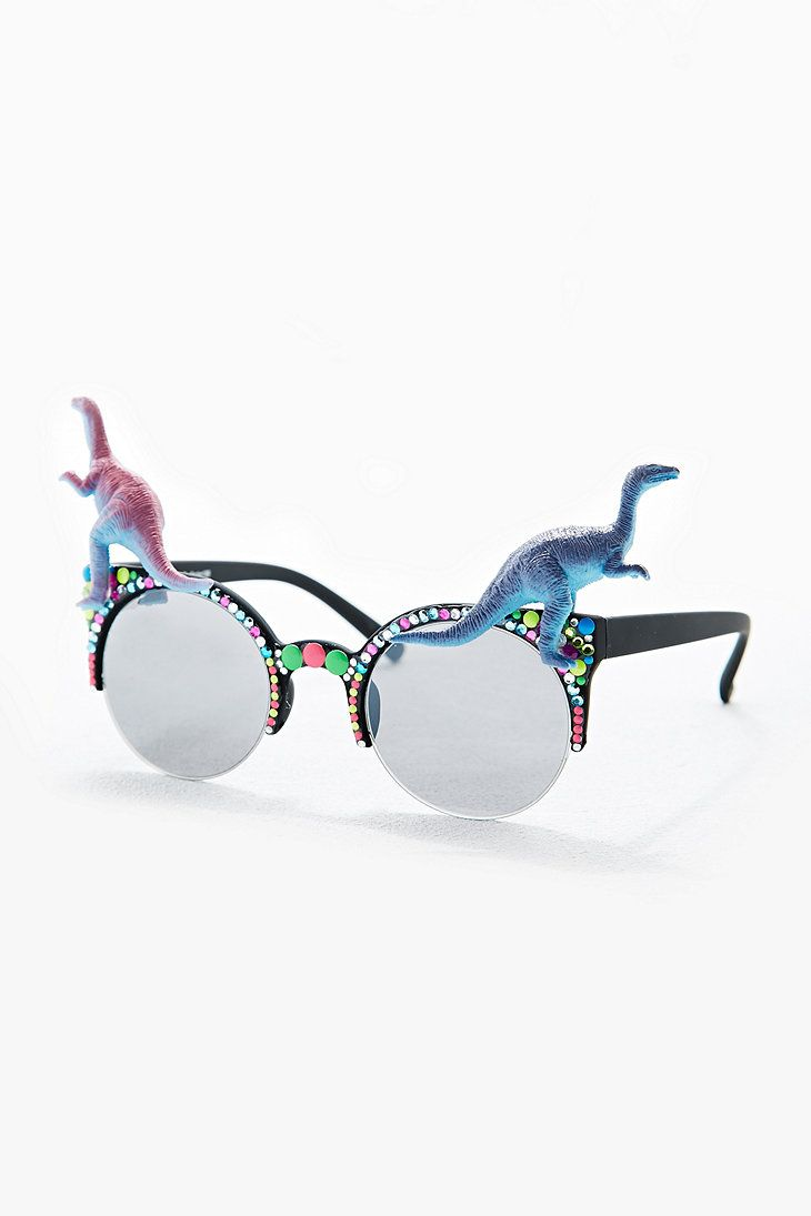 5b0654ced11e Spangled Dinosaur Glasses - Urban Outfitters