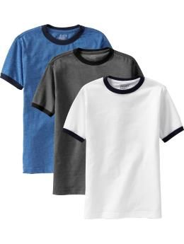 Boys Ringer-Tee 3-Packs | Old Navy Red with Navy Ringer T for ...