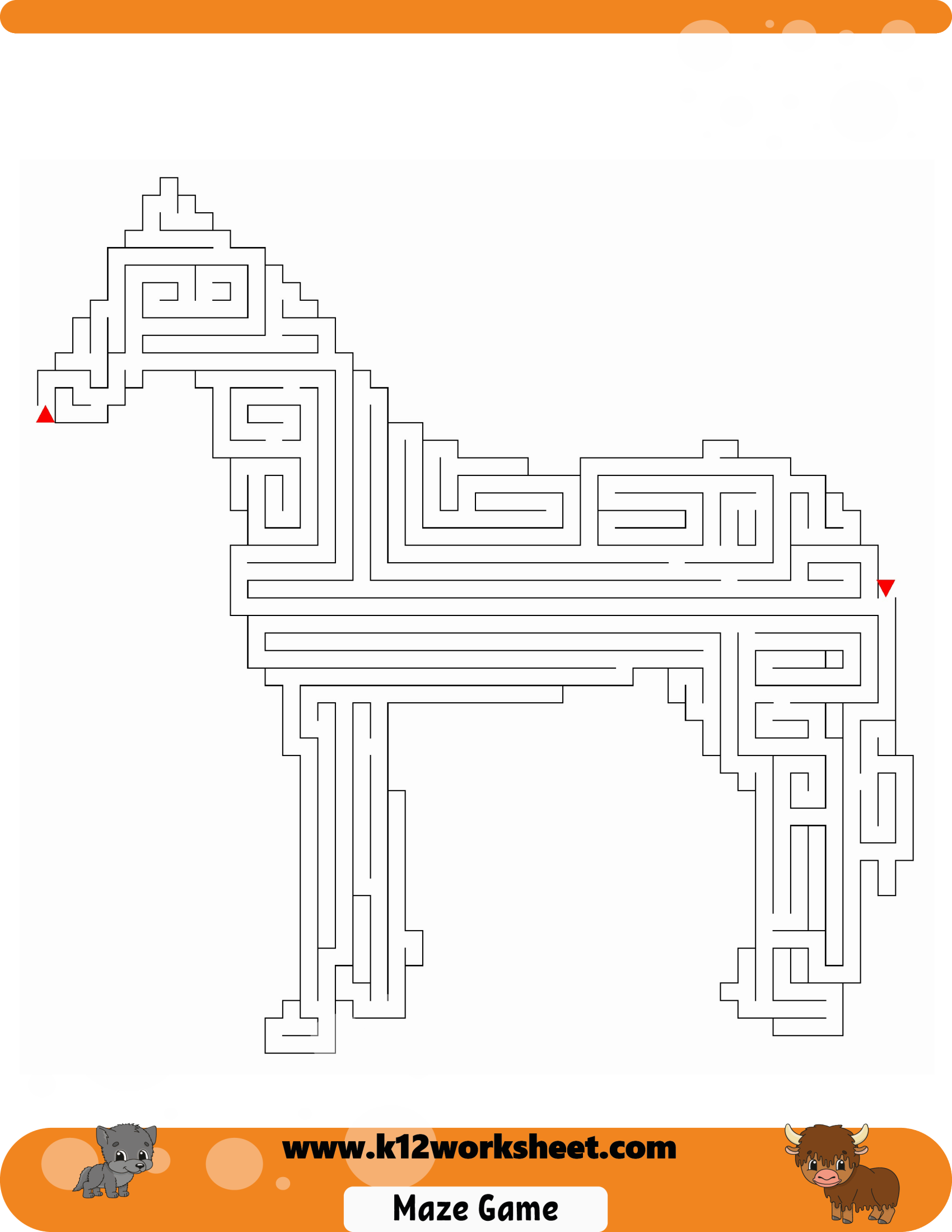 Horse Maze For Kids Mazes Are Really Fun And A Good Way