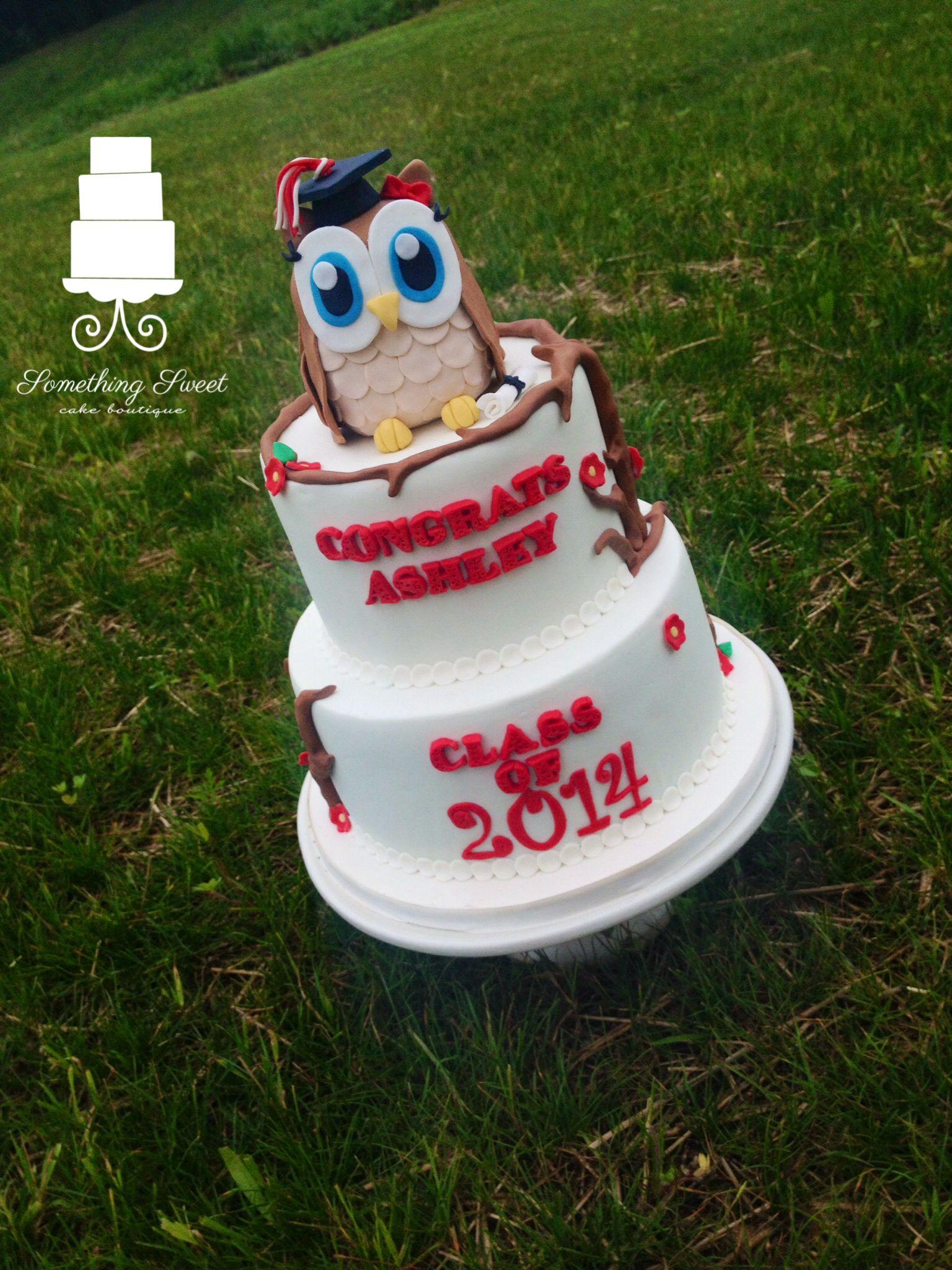 Owl Graduation Cake Fondant Owl Something Sweet
