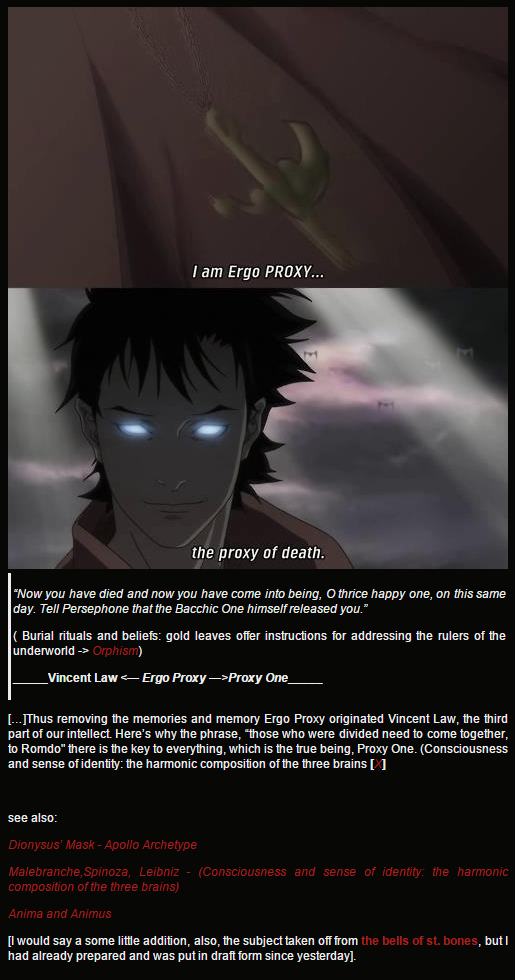 Ergo Proxy References Orphism Burial Rituals And Beliefs Gold
