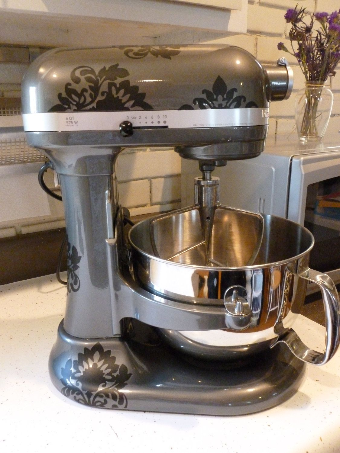 kitchen aid stand up mixer how to decorate your kitchenaid damask decals vinyl sticker for