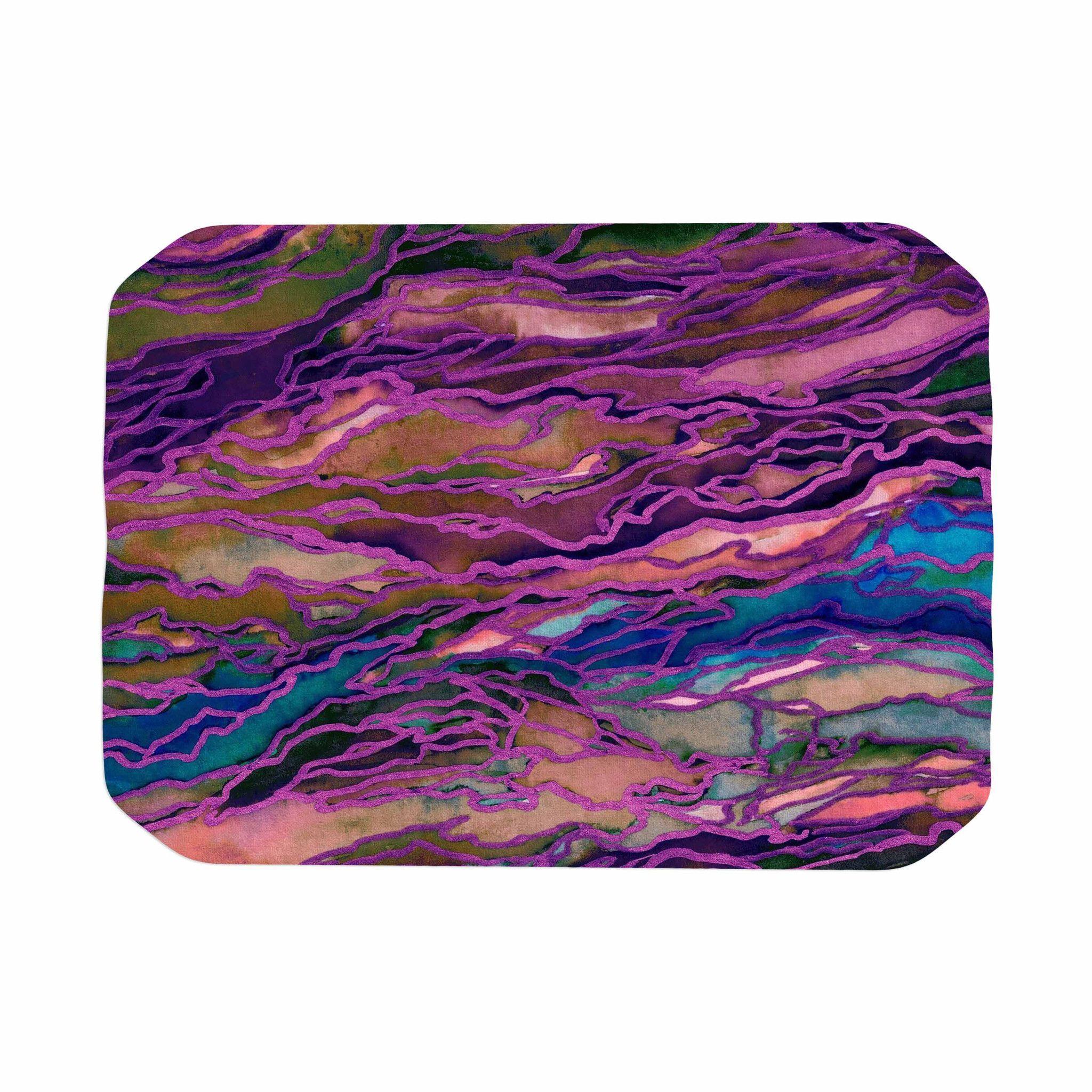 purple piece rug chenille chenillerugbabypink itm non mat bathroom carpet mats slip absorbant bath