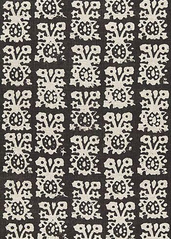Jakarta Linen Print Graphite Fabric By The Yard Pattern Wallpaper