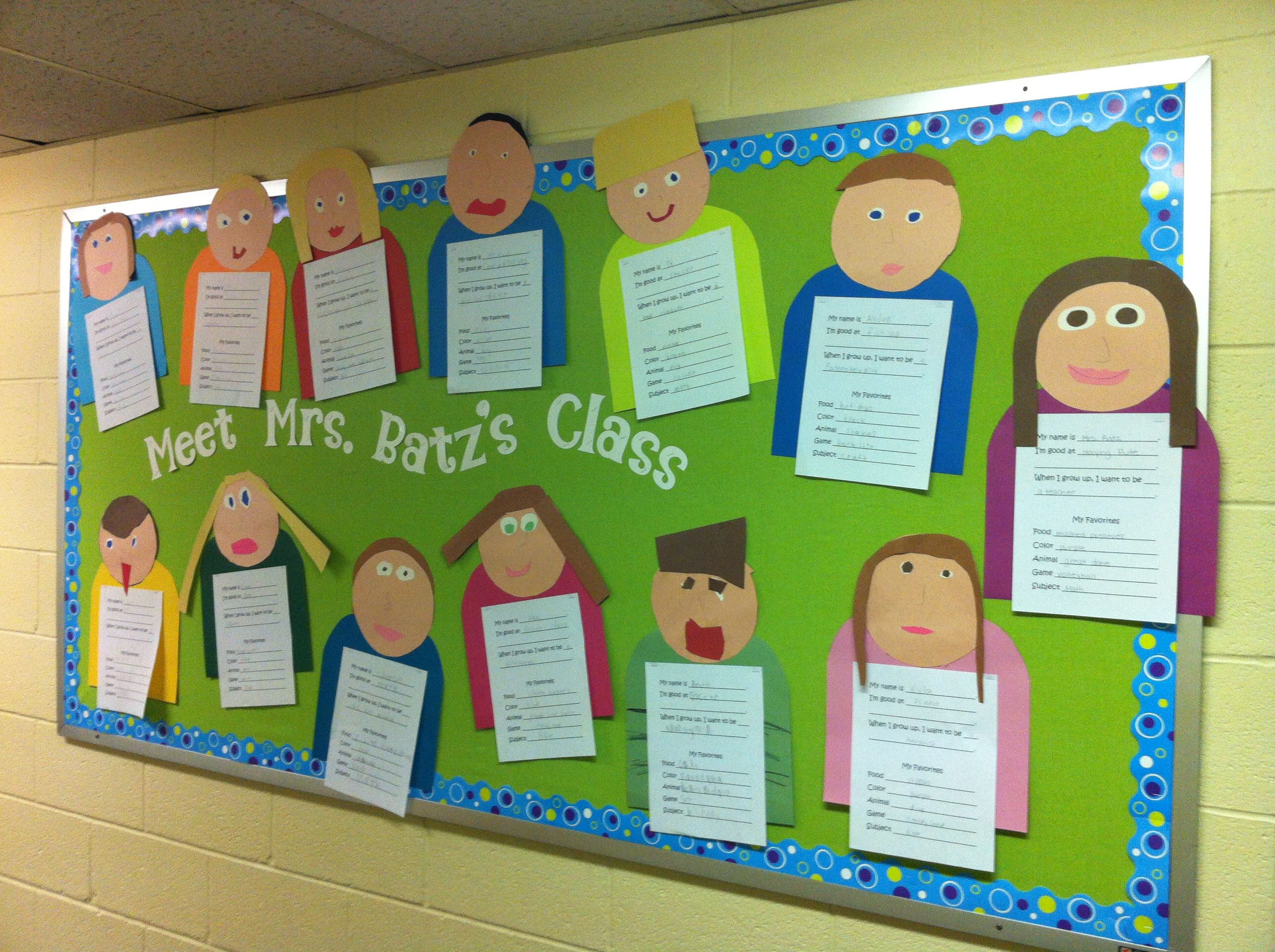 Get To Know You Bulletin Board For The Whole Classroom