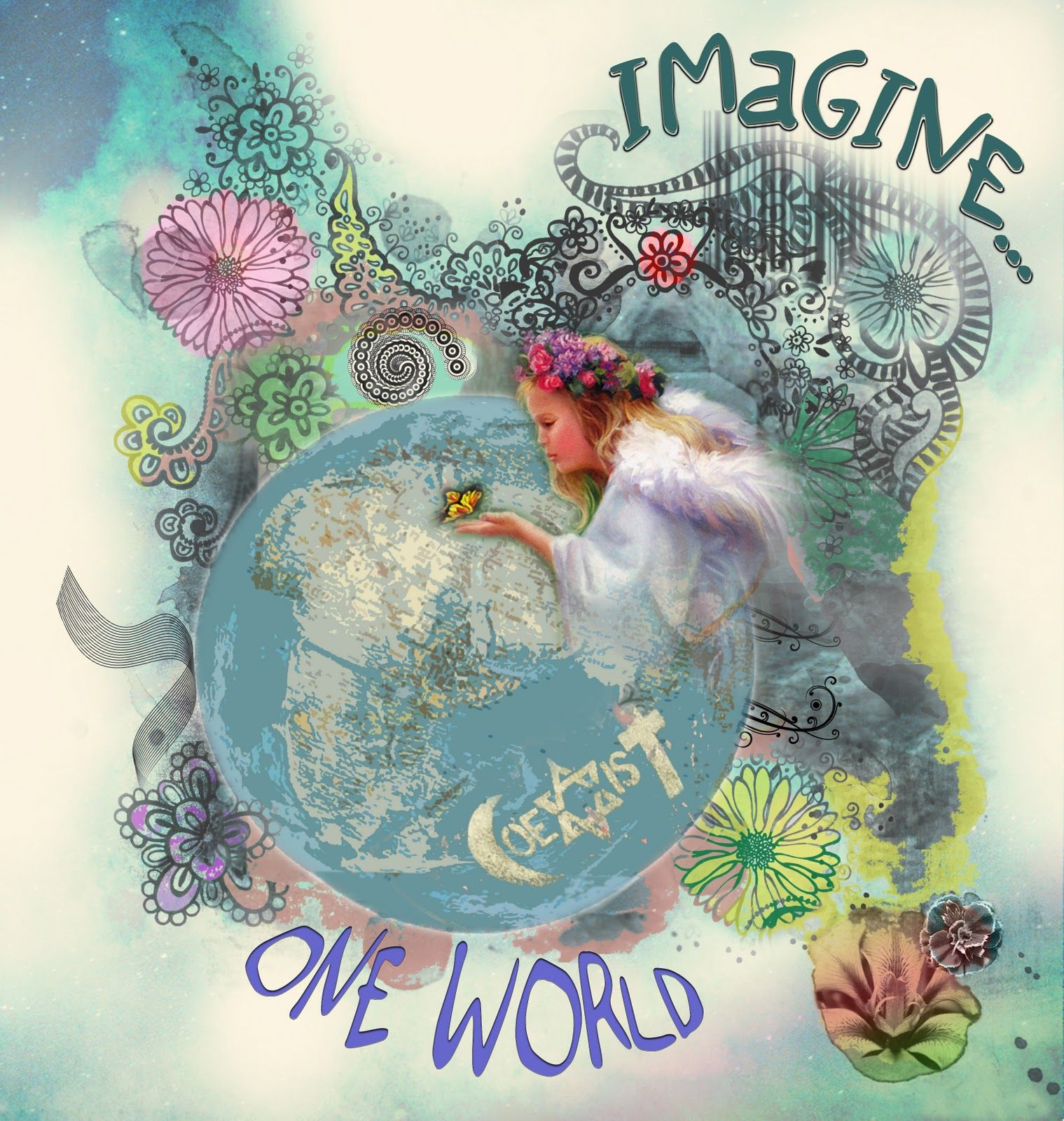 Peace And Love Images And Quotes: Imagine All The People Sharing All The World...""