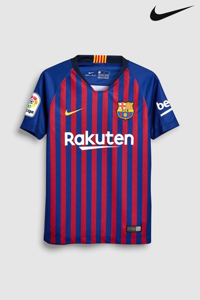 a63b0c41af2 Boys Nike FC Barcelona 2018/19 Kids Stadium Football Jersey - Blue ...