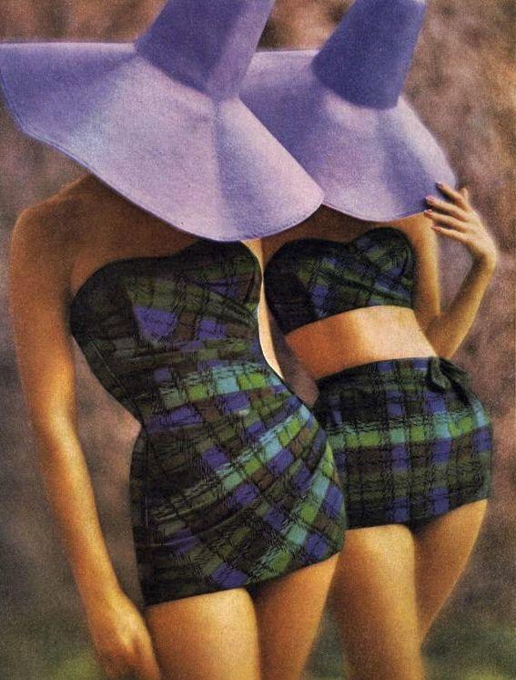 Vintage Tartan Swimwear 1960