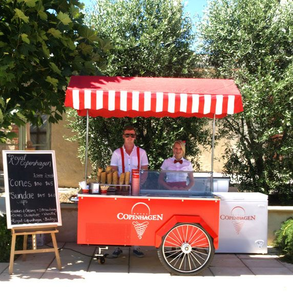 Food Truck Wedding Ideas: Retro Style Icecream Carts For Weddings - Australia