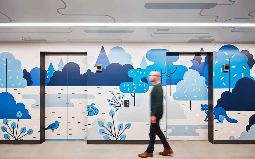 LinkedIn Chicago Office Interior Branding in 2020