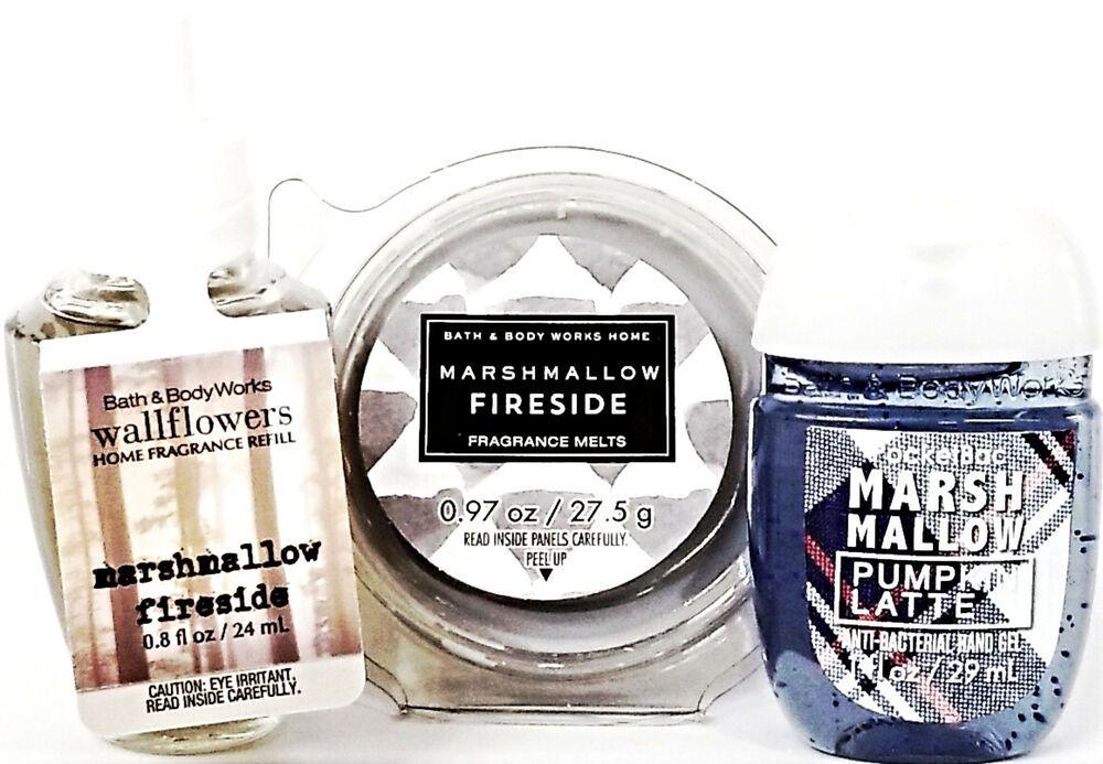 Bath Body Works Marshmallow Fireside Wax Melt Bulb Pocketbac