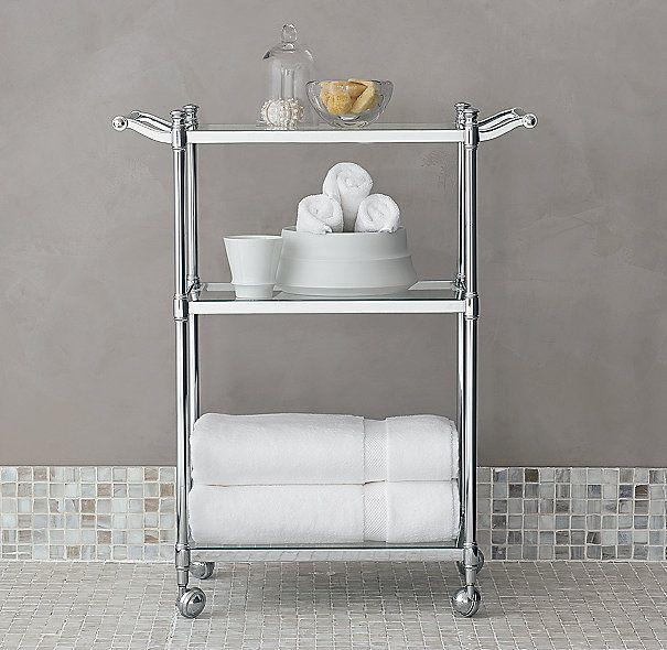 Bathroom Shelf Unit Storage, Rolling Bathroom Cart