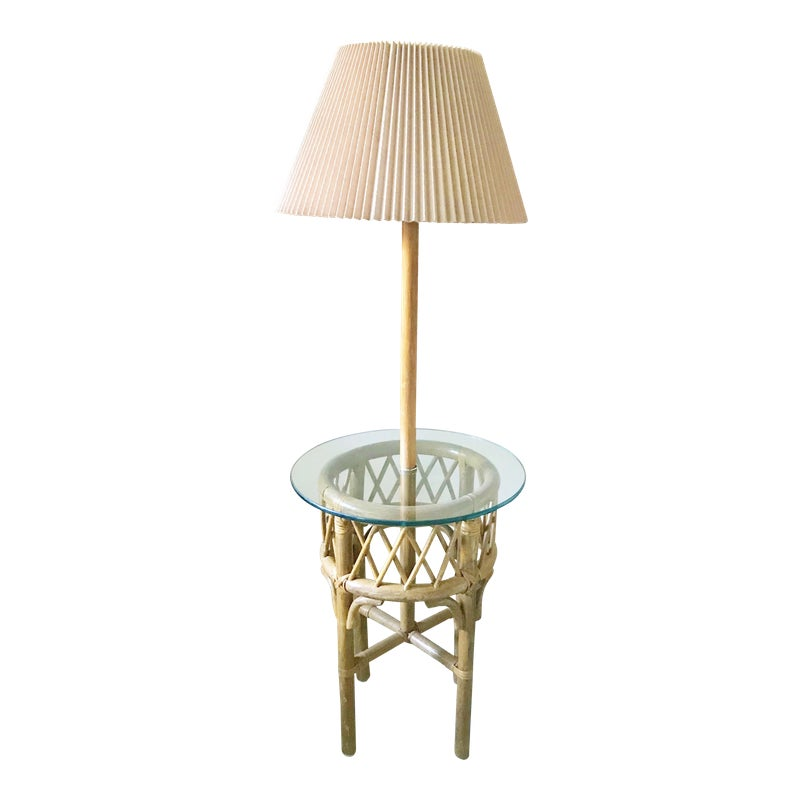 1970s Morris Greenspan Palm Beach Regency Rattan Floor Lamp Rattan Floor Lamp Floor Lamp Palm Beach Regency