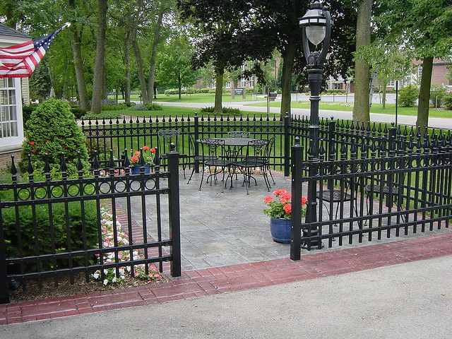 Residential Concrete 012 Front Yard Fence Fence Design Iron Fence