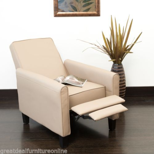 Living-Room-Contemporary-Camel-Leather-Recliner-Club-Chair