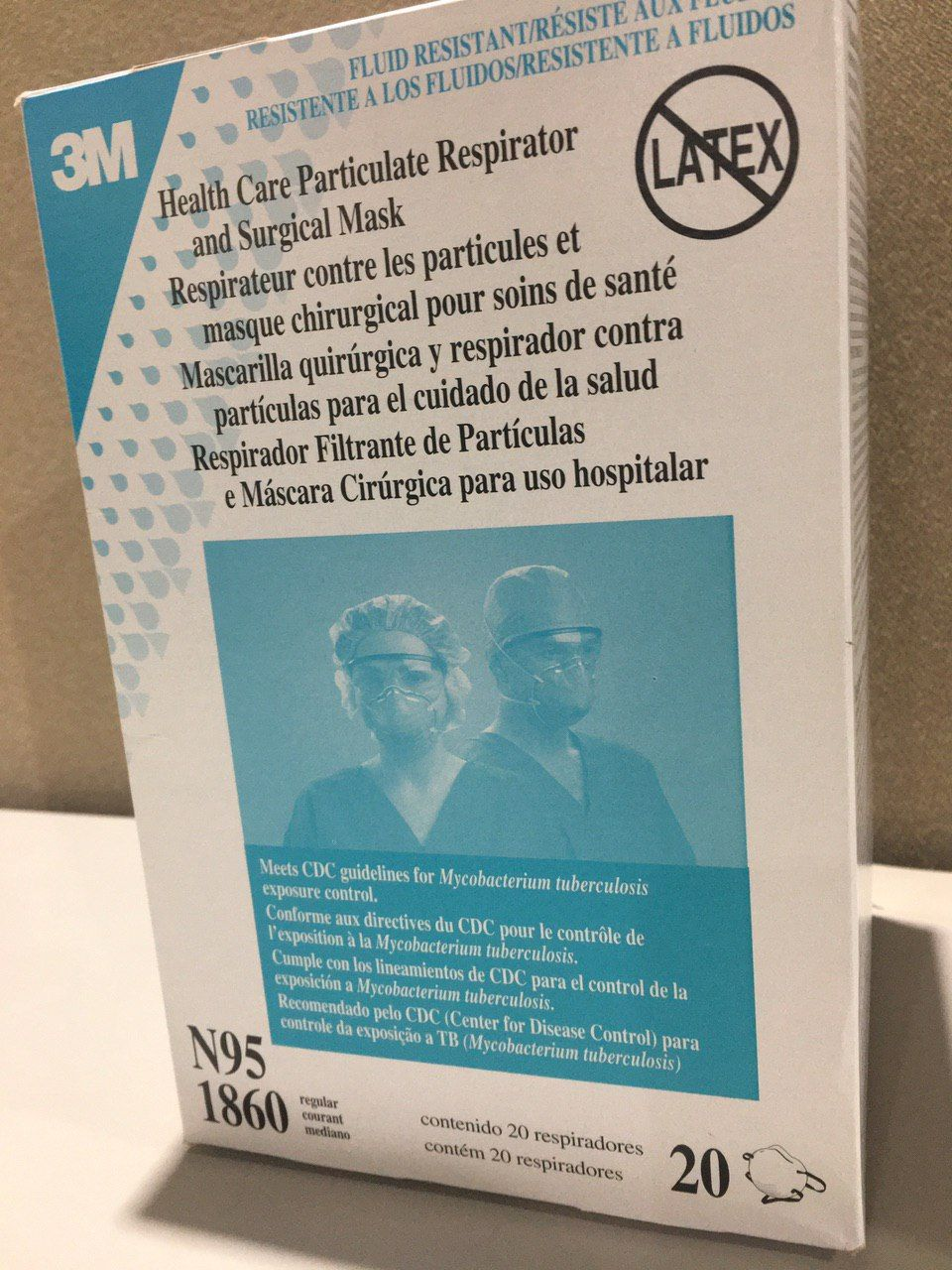 3m 1860 particulate respirators meet cdc guidelines for tb
