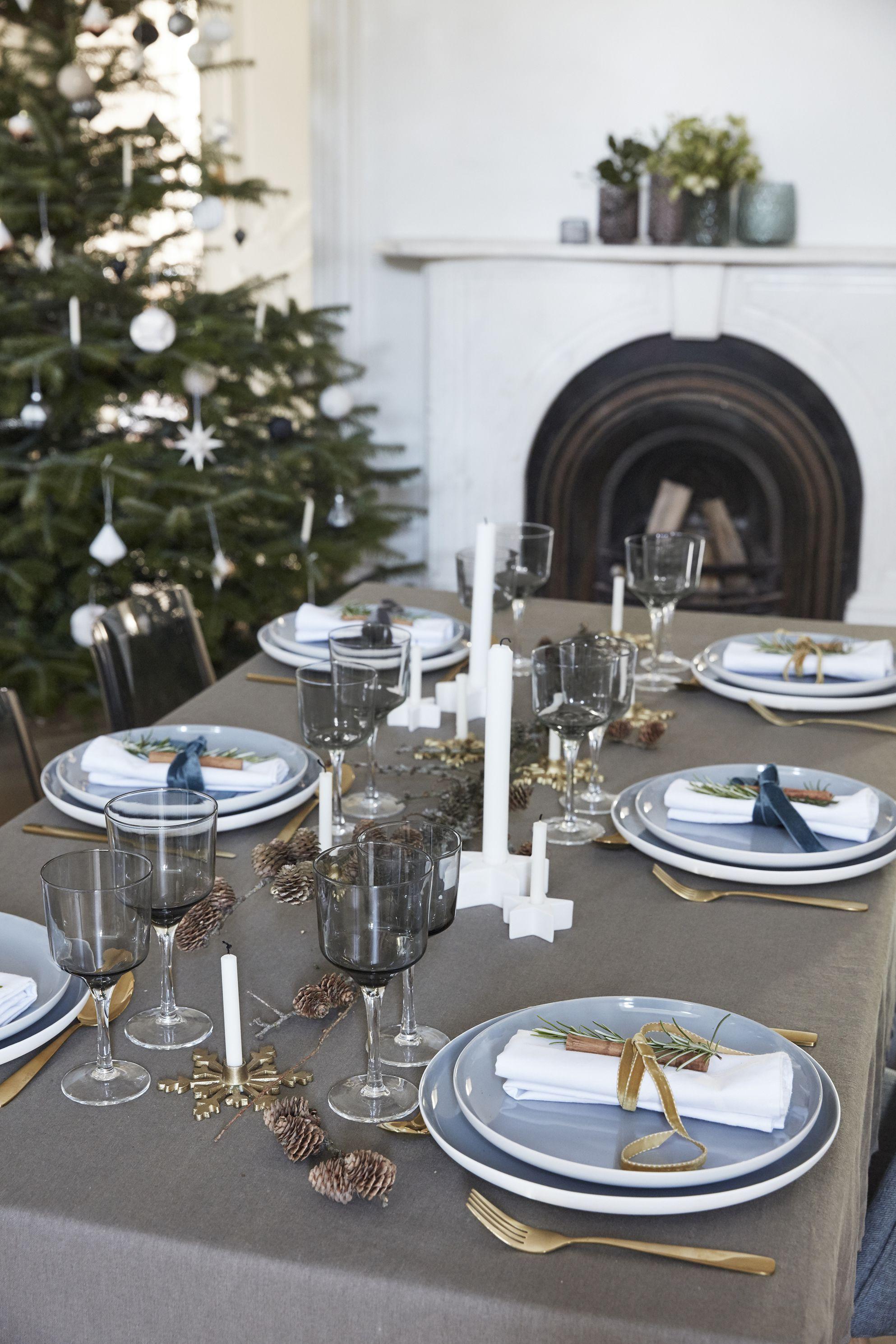 Nordic Christmas Table Decorations Christmas Dinner Christmas Table Decorations Xmas Dinner Table Nordic Decor