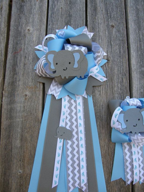 Mommy To Be Set Of Two Baby Shower Mum Elephant Baby Shower Mum