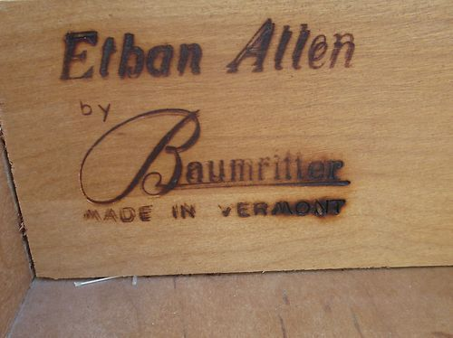 One Of The Early Ethan Allen Marks, Vermont Made Furniture