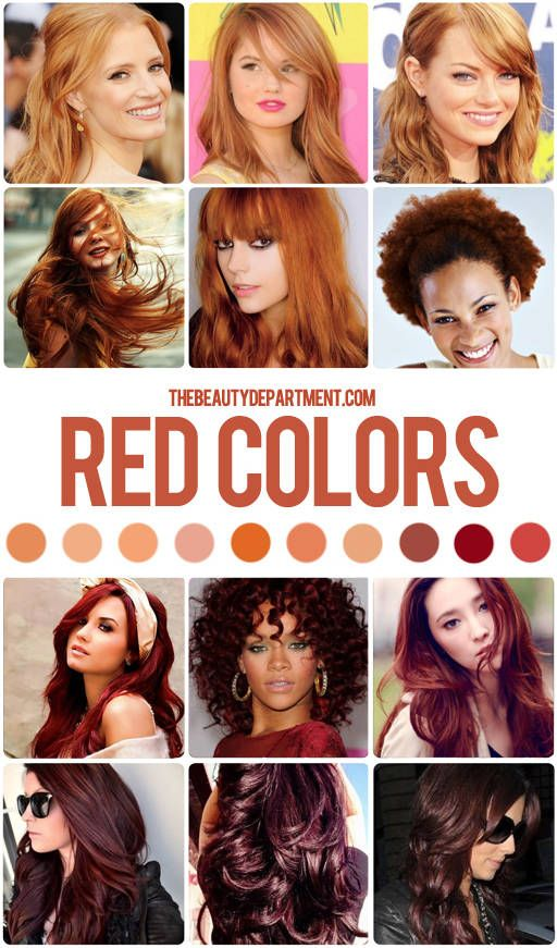 Hair Color Guide Reds Hair Color Guide Dark Red Hair Color Red Hair Color
