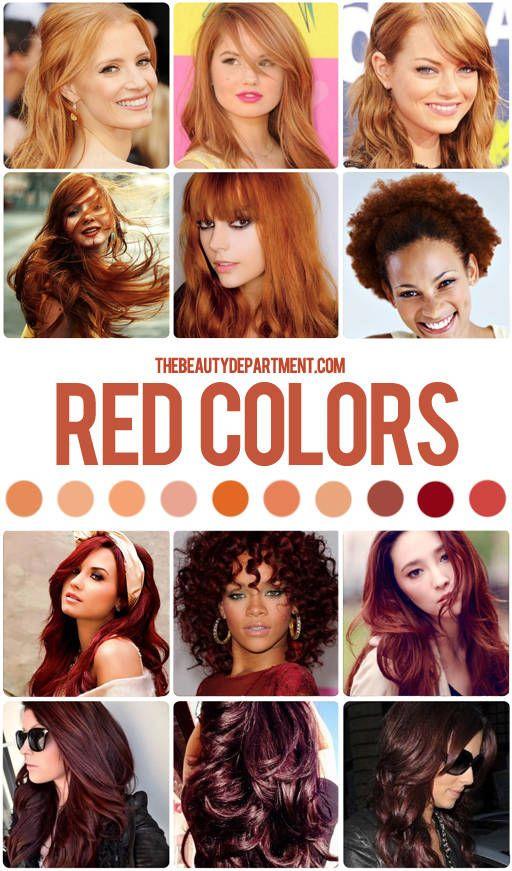 Hair Color Guide Reds Hair Color Guide Red Hair Color Dark Red Hair Color