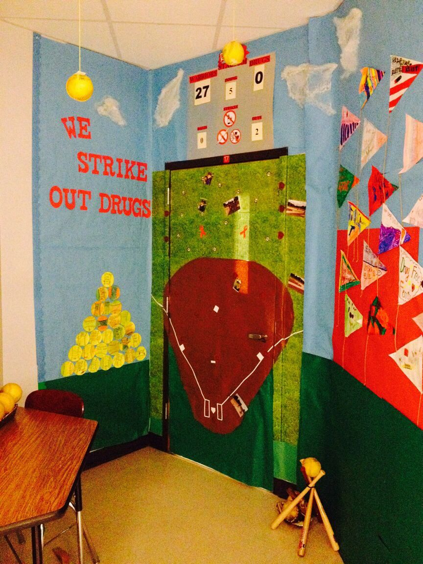 Red ribbon week door decorations students brought in their little red ribbon week door decorations students brought in their little league pictures to play vtopaller Choice Image