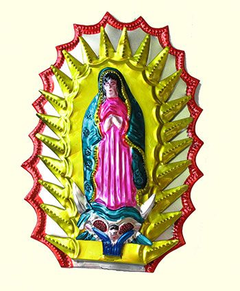 mexicantin wall art | ... LADY OF GUADELUPE | Buy Mexican Tin ...