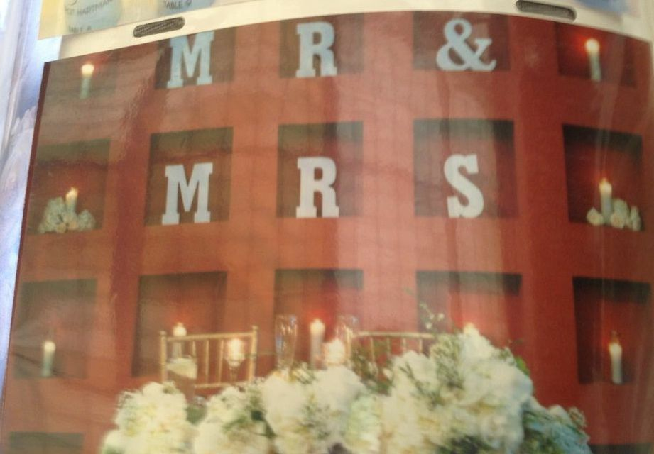 Mr. and Mrs. reception seating