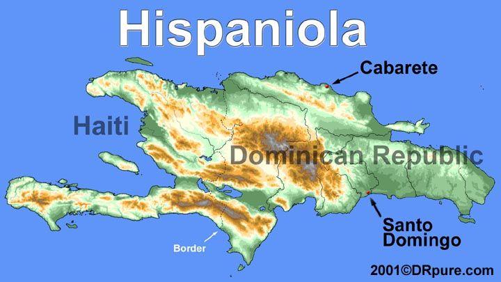 map-hispaniola-physical. | Yo soy Afro-Latina!! in 2019 | Dominican ...