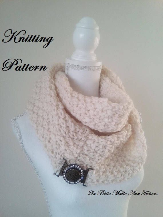 Pdf Patron Tricot Knitting Pattern Charpe Circulaire Snood