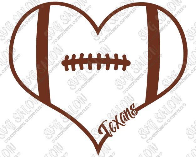 Houston Texans Fan Football Laces Heart Custom DIY Vinyl Shirt - Custom vinyl decals houston