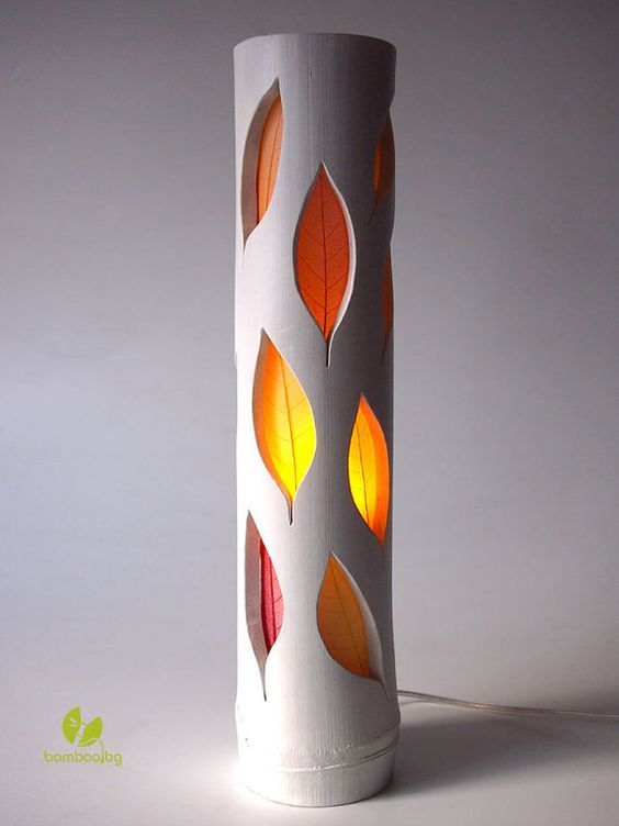 Bamboo table lamp autumn leaves floral lamp designer lamp bamboo table lamp autumn leaves floral lamp designer lamp natural bamboo aloadofball Choice Image
