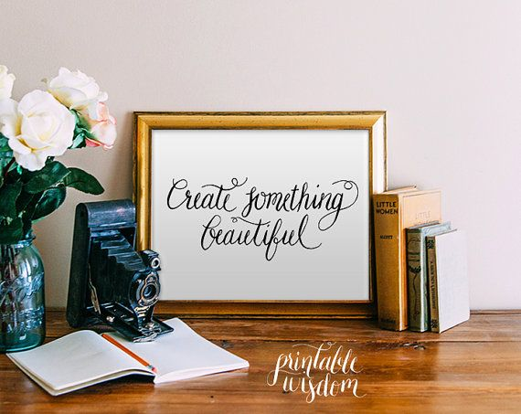 Quote print printable wall art calligraphy art print