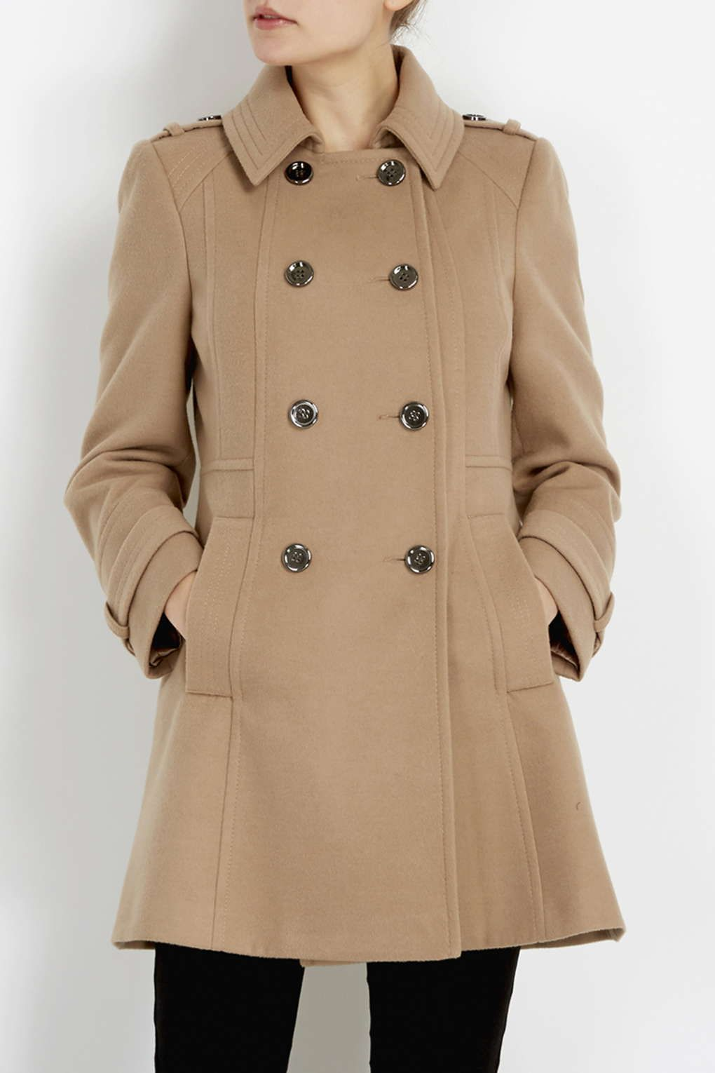 PETITE CAMEL MILITARY COAT Up To 38% Off http://tidd.ly/44af6009 ...