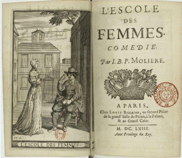 L'Escole des femmes, comédie par J.B.P. Molière, Paris, 1663 - Paris, Bibliothèque Nationale de France