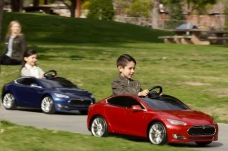 electric cars for kids and car social media