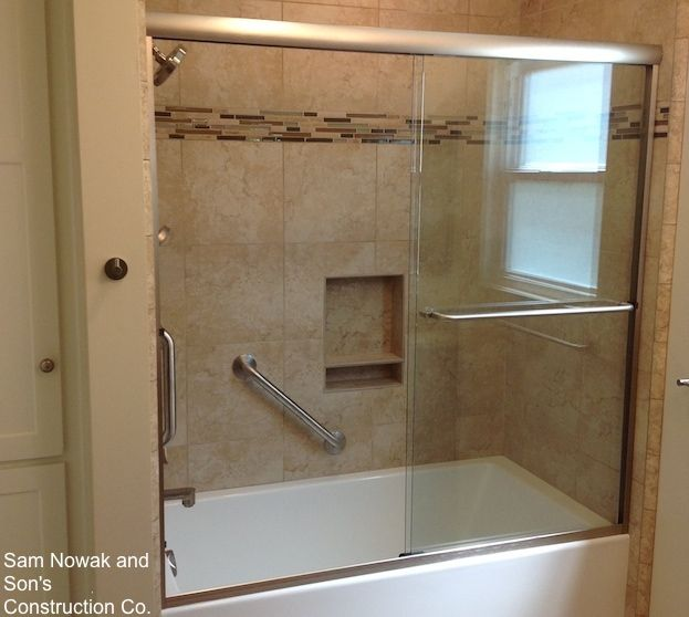 How To Install Shower Grab Bars With Images Shower Grab Bar