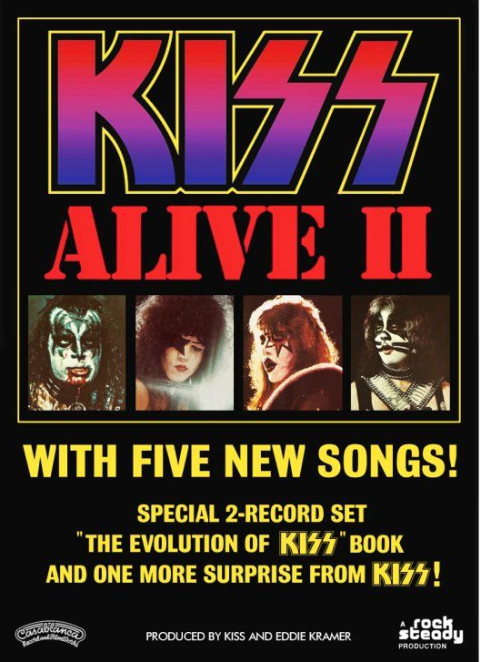 Kiss Alive Ii Promo Ad Stand Up Display 1 Kiss Band Rock Band